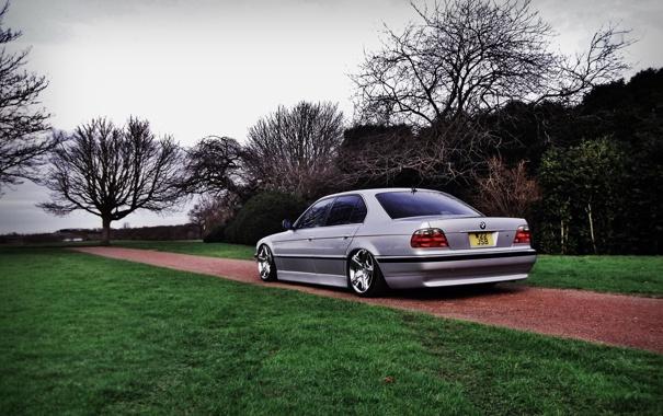 Фото обои тюнинг, BMW, Бумер, БМВ, диски, stance, E38