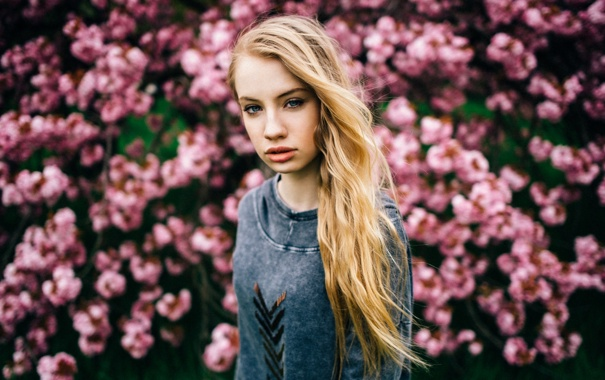 Фото обои Linda, portrait, Bloomy Dreams