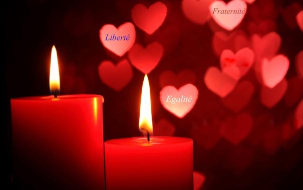 Фото обои макро, фон, свечи