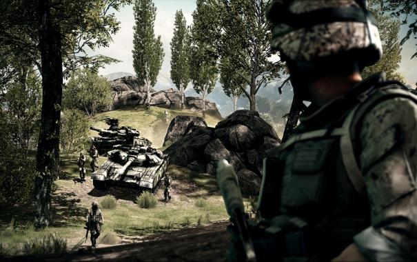 Фото обои солдат, танк, Battlefield