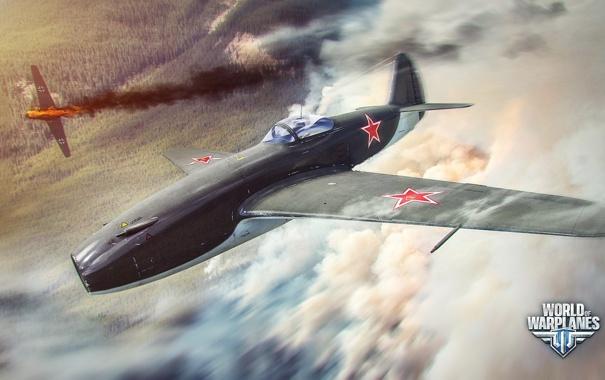 Фото обои самолет, огонь, дым, aviation, авиа, MMO, Wargaming.net