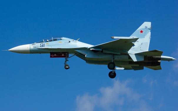 Фото обои полет, истребитель, многоцелевой, двухместный, Су-30М2