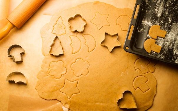 Фото обои скалка, Рождество, противень, новогоднее, Christmas, New Year, формочки