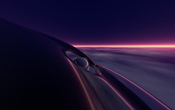 Фото обои фиолетовый, линии, deep purple