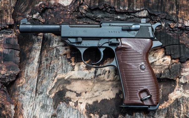 Фото обои пистолет, оружие, фон, P 38