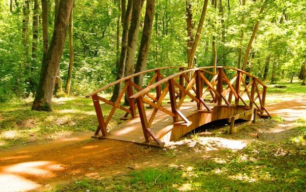 Фото обои мост, природа, парк, фото, Сербия, Obrenovac