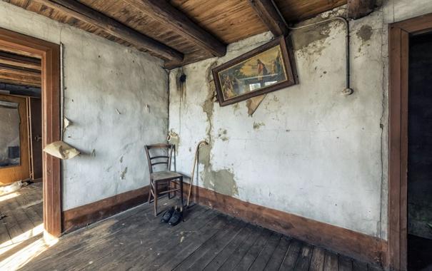 Фото обои комната, картина, стул