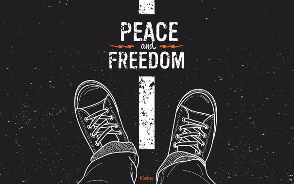 Фото обои кеды, rock, рок, peace, freedom, сonverse