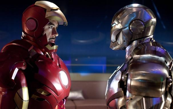 Фото обои Железный человек, костюмы, тони старк, супер оружие