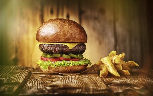 Фото обои фон, еда, Hombre burger