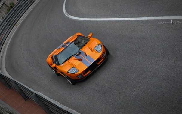 Фото обои Ford, Orange, Supercar