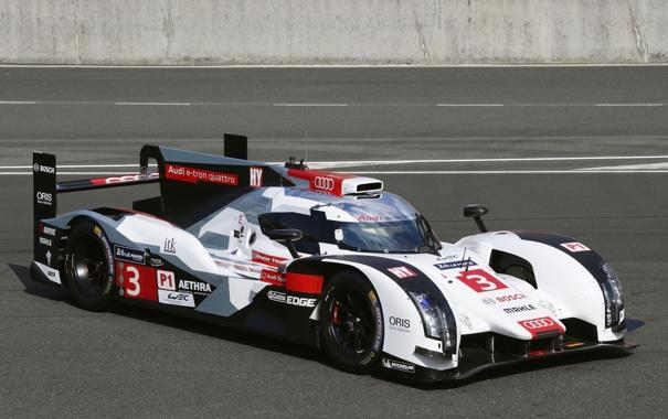 Фото обои Audi, ауди, LMP1, R18, суперкар, e-Tron, спорт