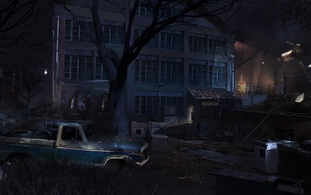 Фото обои машина, ночь, здание, америка, Splinter Cell: Conviction
