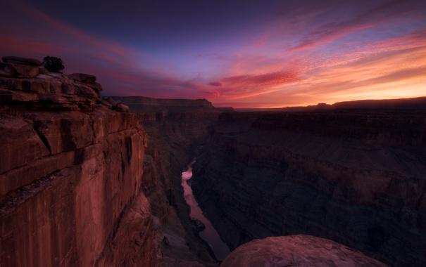 Фото обои rock, sunset, usa, arizona, grand canyon, torowep