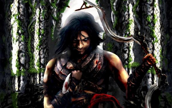 Фото обои оружие, замок, обои, игра, окна, арки, Prince of Persia