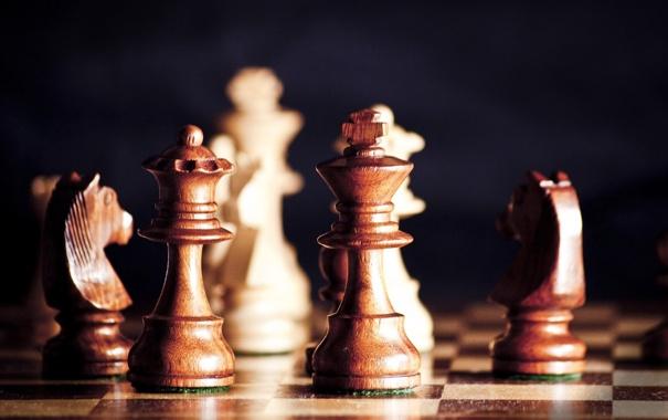 Фото обои дерево, спорт, игра, шахматы, доска, фигуры