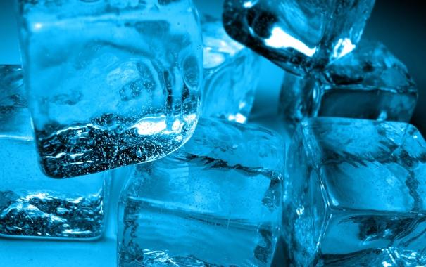 Фото обои холод, лед, вода, кубики