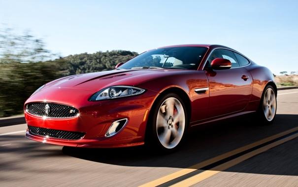 Фото обои красный, купе, Jaguar, XKR, Ягуар, суперкар, Coupe