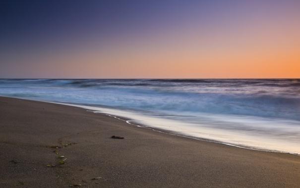 Фото обои песок, море, пляж, небо, вода, фото, океан