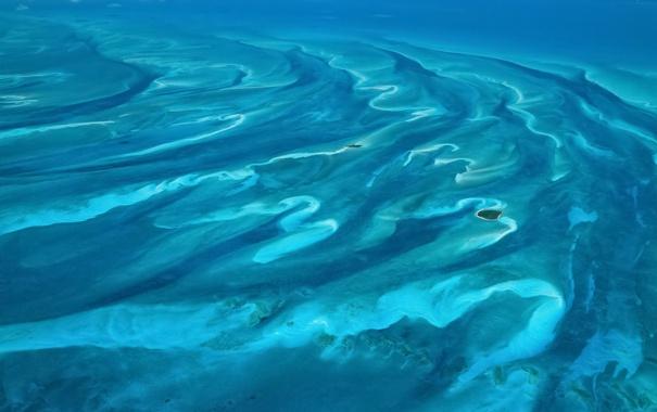 Фото обои аэрофото, retina, океан, голубой, вода, OSX, 10.8