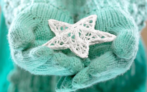 Фото обои зима, любовь, звезда, руки, love, star, winter