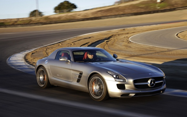 Фото обои авто, Mercedes-Benz, скорость, поворот
