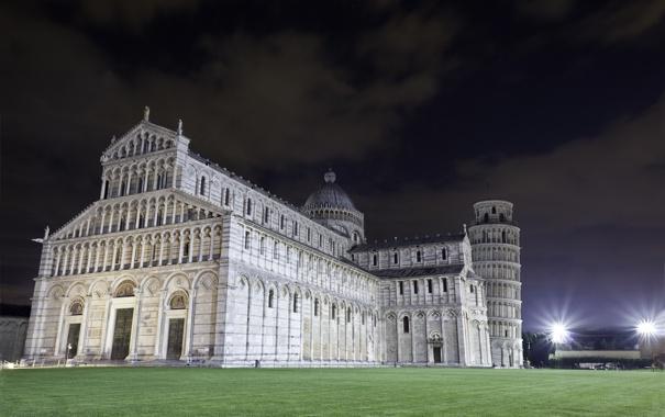 Фото обои Италия, Пиза, Italy, Pisa, Пизанская башня, Pisa Cathedral, Пизанский собор