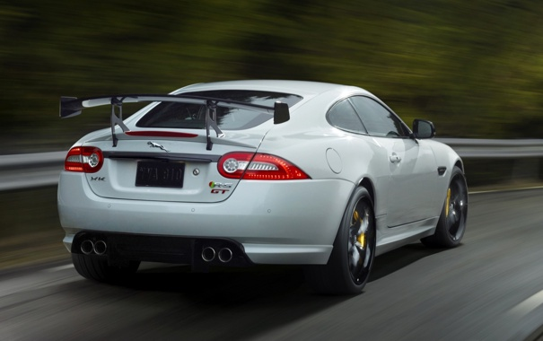 Фото обои машина, Jaguar, спойлер, задок, XKR-S