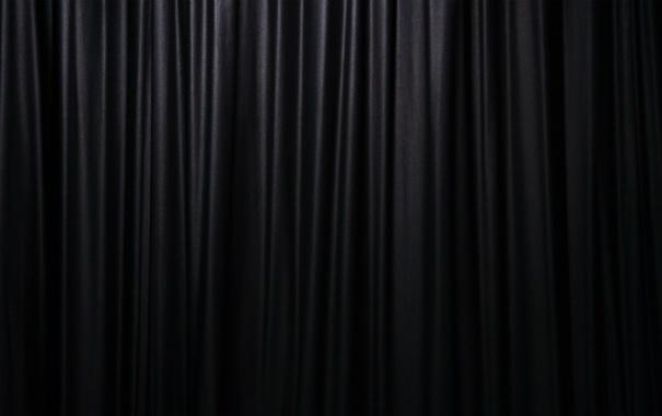 Фото обои fabric, black, curtains, glitter