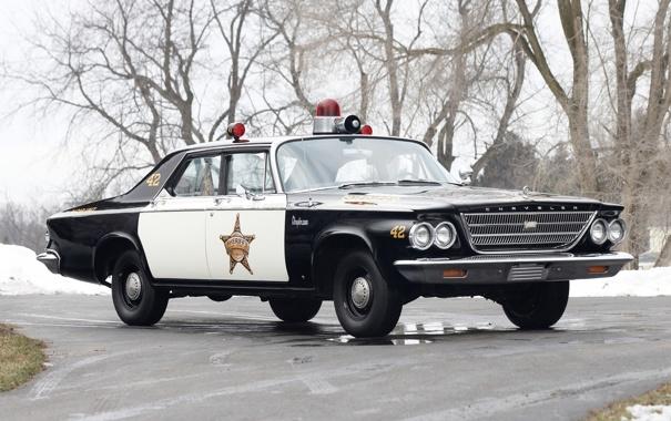 Фото обои Chrysler, Police, Cruiser, Newport, 1963 год