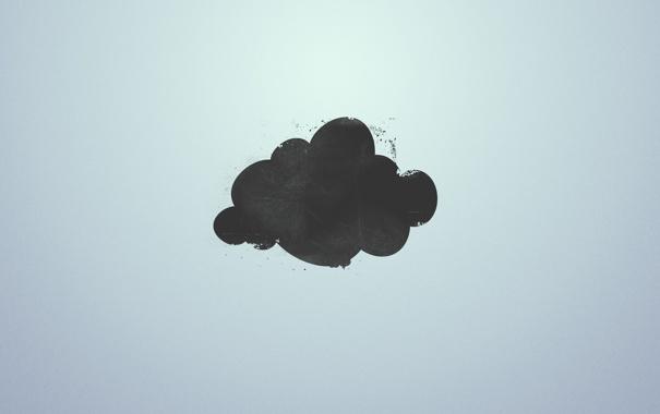 Фото обои минимализм, Облако, гранж