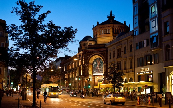 Фото обои ночь, германия, night, берлин, germany, berlin, oranienburger str