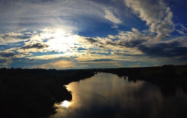 Фото обои река, Ока, Калуга, Kaluga, Oka