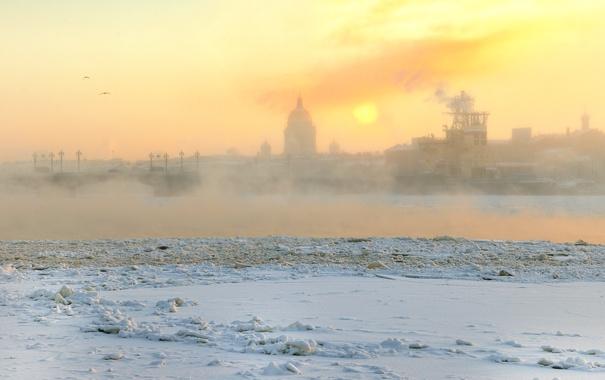 Фото обои зима, Санкт-Петербург, мороз