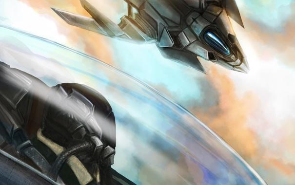 Фото обои полет, арт, самолеты, кабина, пилот, в небе