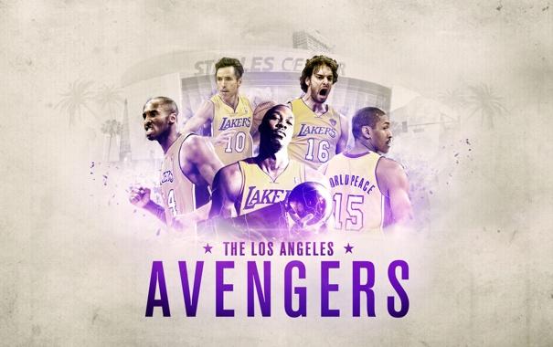 Фото обои Спорт, Команда, Баскетбол, Los Angeles, NBA, Lakers, Лос Анджелес