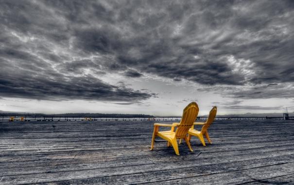 Фото обои clouds, sunrise, washington, waterfront