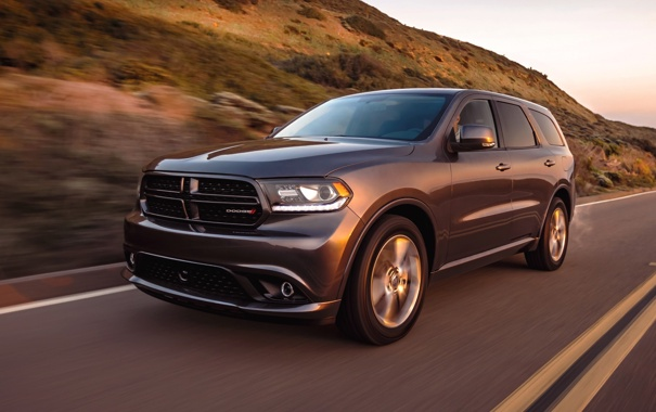 Фото обои car, Dodge, road, speed, suv, Durango, R/T
