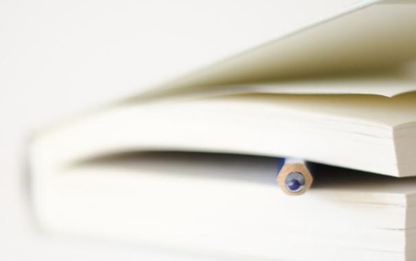 Фото обои книга, карандаш, форма