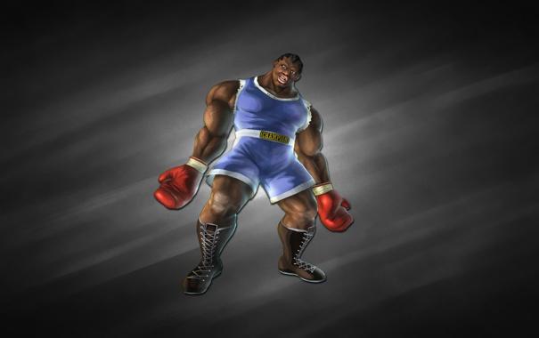 Фото обои темный фон, бокс, Балрог, Balrog, боксер, уличный боец, Street Fighter