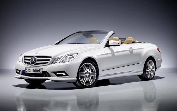 Фото обои белый, Мерседес, Mercedes, кабриолет, AMG, e class cabrio