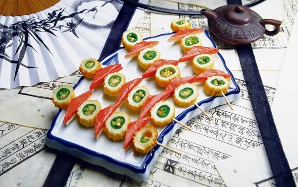 Фото обои еда, суши, роллы