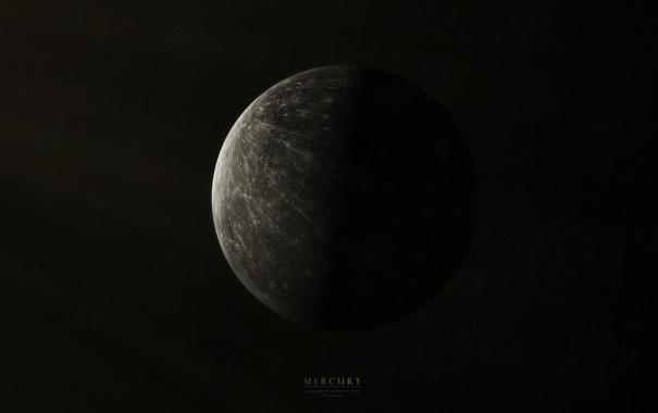 Фото обои звезды, планета, Меркурий, кратеры, Mercury