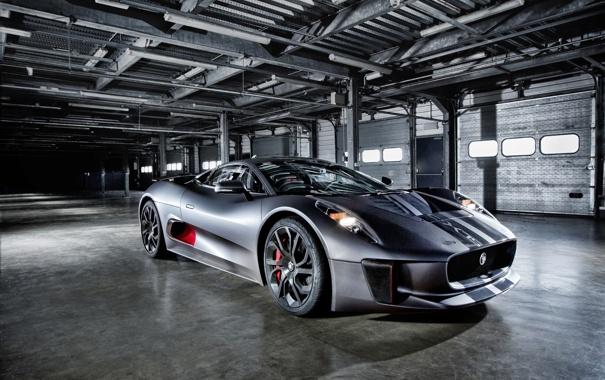 Фото обои фары, Jaguar, ягуар, Hybrid, передок, гибрид, C-X75