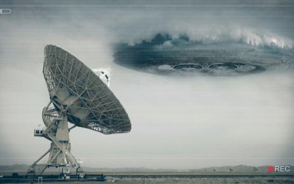 Фото обои тарелка, радар, UFO