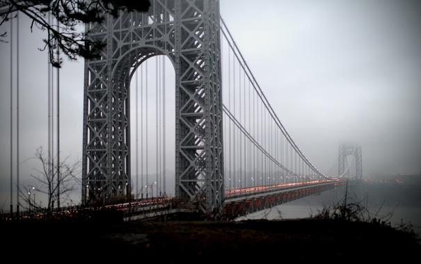 Фото обои United States, New Jersey, George Washington Bridge, Fort Lee