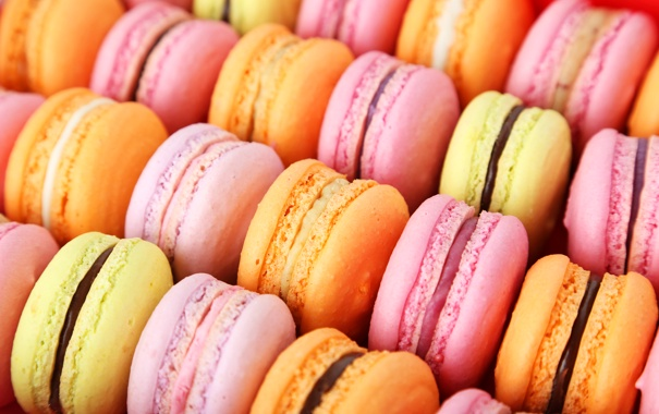 Фото шпалеры colorful, печенье, десерт, sweet, dessert, cookies, macaron