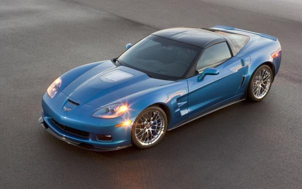 Фото обои car, машина, асфальт, corvette, chevrolet
