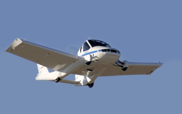Фото обои машина, небо, полёт, самолёт, Transition, Terrafugia, Flying Car