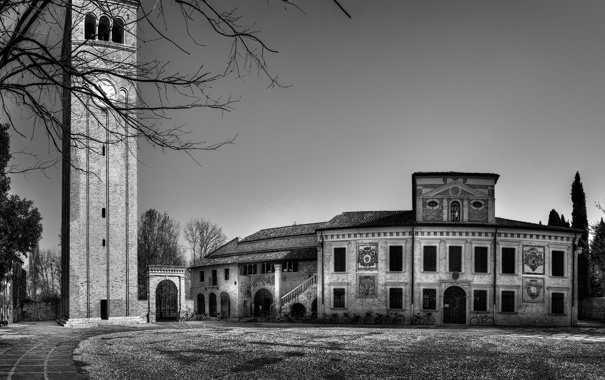 Фото обои дом, башня, Scorcio di Sesto al Reghena